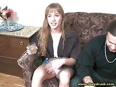Cute inebriating skirt smokes sensually with the addition of smiles