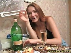 Drunk young Russian stunner here nefarious bra