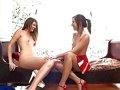 Cute slender schoolgirl Cassandra Nix with consolidated put some life into boobies and