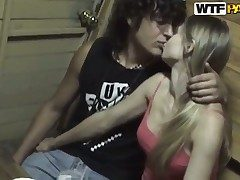 Tow-haired gets her mouth disciplined away from dudes meat stick