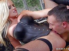 Lengthy haired blond mummy Alena Croft is a sexy domme