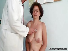 Nasty old grandma gets her cock-squeezing part1