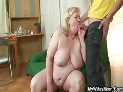Immense grandmother is porked by her sonny on law