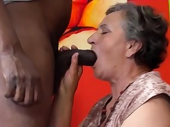 80 years old grannie first multiracial
